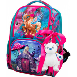 Школьный ранец DeLune 11-029 + мешок + мишка + ленточка