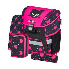 Школьный ранец Herlitz LOOP PLUS Black Cat с наполнением 50032440