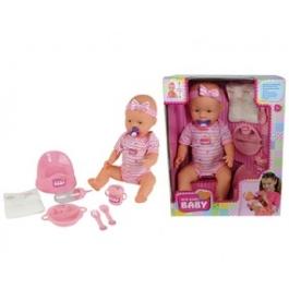 Simba Кукла New Born Baby (пьет/писает)