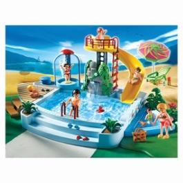 Playmobil Бассейн с водяной горкой и солнечной террасой