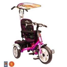 3-х колесный велосипед Rich Toys Lexus Trike original VIP 2013 malina с надувными колесами