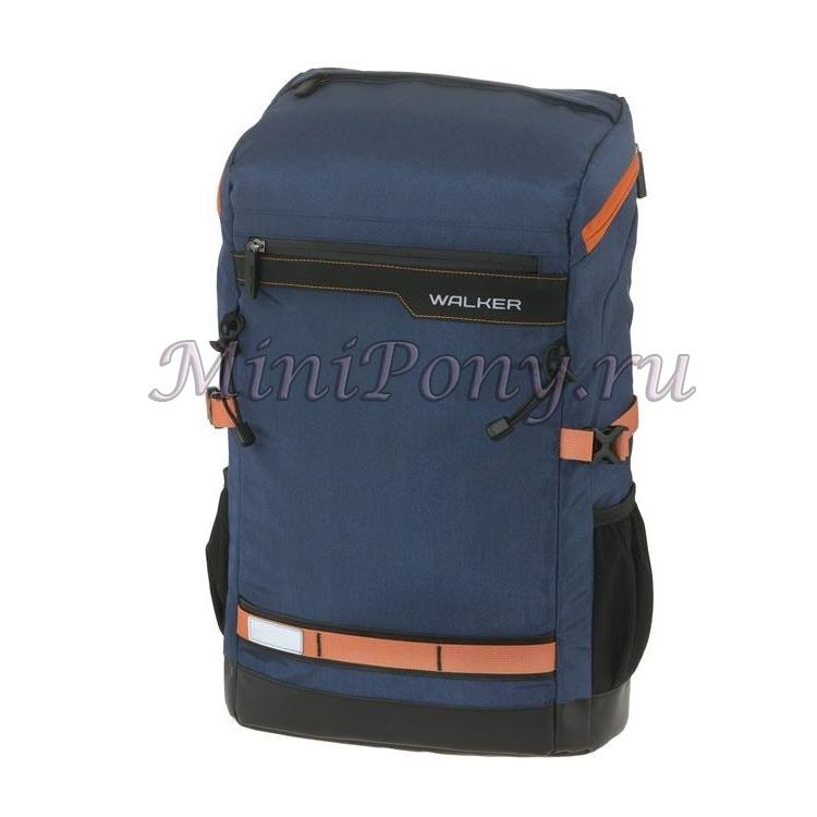 Рюкзак молодежный walker concept синий рюкзак мега