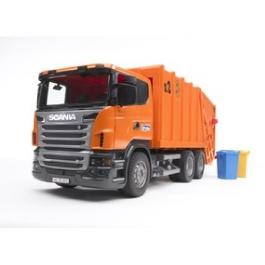 Мусоровоз Bruder Scania (цвет оранжевый)