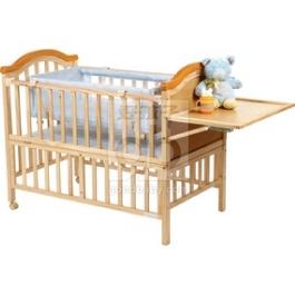 Детская кроватка Geoby LM632H с матрасом и люлькой