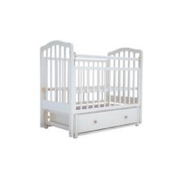Детская кроватка Лаура -2 (продольный маятник) с ящиком