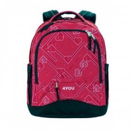 Школьный рюкзак 4YOU Compact 112901-445 расцветка Сердечки