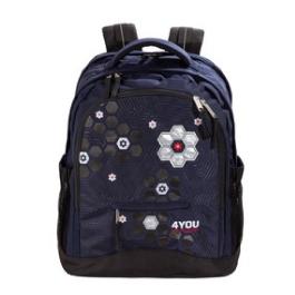 Школьный рюкзак 4YOU Compact Серебряный цветок