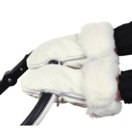 Рукавички Bambu Iglu на коляску Эко-кожа Белые