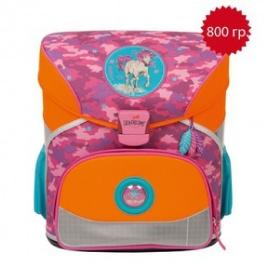 Школьный ранец DerDieDas Розовый пони Basic с наполнением