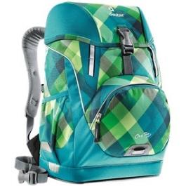 Школьный рюкзак Deuter OneTwo Сине-зеленая клетка с наполнением 4 предмета 3830015-3216/SET2