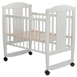 Детская кроватка Valle Bunny 02 колесо-качалка
