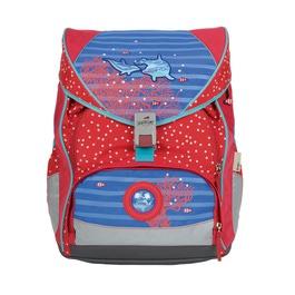Школьный ранец DerDieDas 000406-033 Дельфины ErgoFlex (размер XL) с наполнением