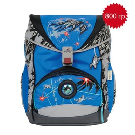 Школьный ранец DerDieDas 000405-038 Открытый космос SuperFlash ErgoFlex с наполнением