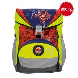 Школьный ранец DerDieDas 000405-040 Алый скорпион ErgoFlex Safety с наполнением