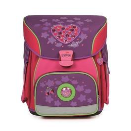 Школьный ранец DerDieDas 000404-029 Вишневое сердце X-Light с наполнением
