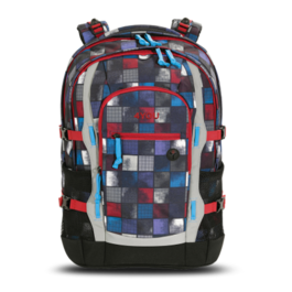 Школьный рюкзак 4YOU Jump Квадраты сине-красные