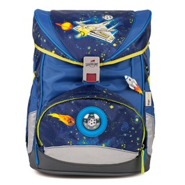 Школьный ранец DerDieDas 8405055 Звездолёт ErgoFlex LED со светодиодами с наполнением