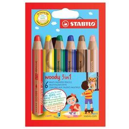 Карандаши STABILO цветные Woody 3 в 1, 6 цветов