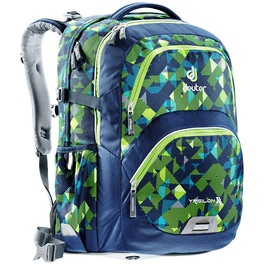 Школьный рюкзак Deuter 80223-3083 Ypsilon Сине-салатовая клетка