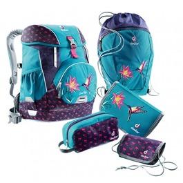 Школьный рюкзак Deuter OneTwo Бирюзовая птица с наполнением 5 предметов 3880017-3044/SET3