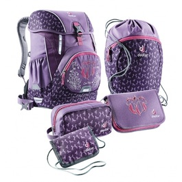 Школьный рюкзак Deuter OneTwo Сиреневый пони с наполнением 5 предметов 3880017-5022/SET3