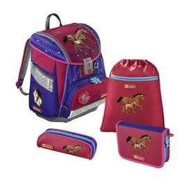 Школьный ранец Hama Step by Step Touch 2 Lucky Horses с наполнением 138929