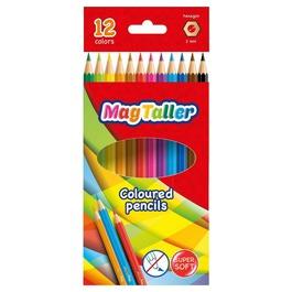 Карандаши MagTaller цветные трехгранные, 12шт