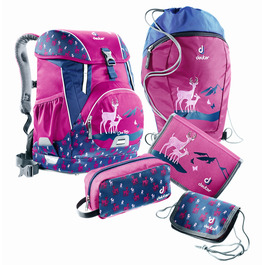 Школьный рюкзак Deuter OneTwo Пурпурный олень с наполнением 5 предметов 3880117-5018/SET3