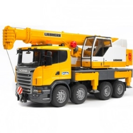 Автокран Bruder Scania с модулем со световыми и звуковыми эффектами