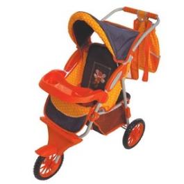 Gulliver коляски Коляска с сумочкой для куклы (оранжевая с пчёлкой)